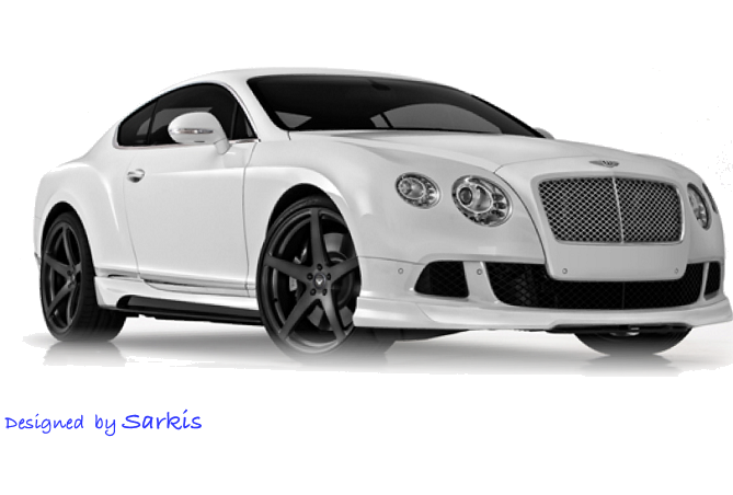 White Bentley Continental GT